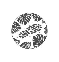 adventure theme emblem vector image