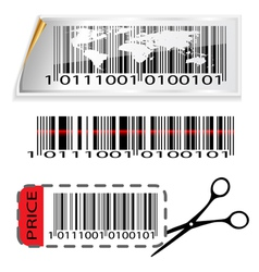 Bar code map vector