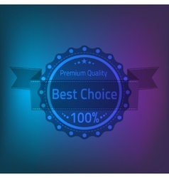 Best choose premium quality badge vector image vector image