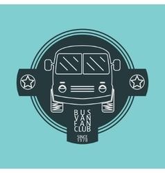 Bus van logo vector