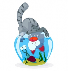 cat and snail vector image
