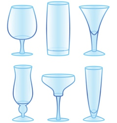 drinking glasses vector image vector image