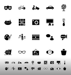 Favorite and like icons on white background vector image vector image