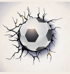 Football ball on the background of a broken-down vector
