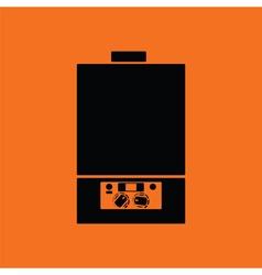 Gas boiler icon vector