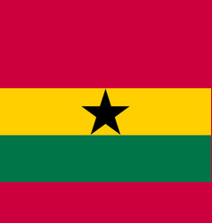 ghana country flat style flag vector image