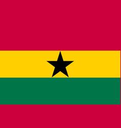 Ghana country flat style flag vector