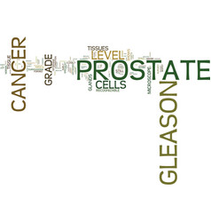 Gleason level of prostate cancer text background vector
