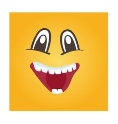 Happy smiley face icon vector