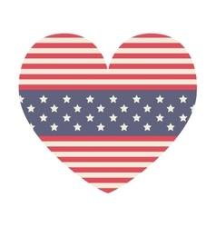 Heart of usa flag design vector