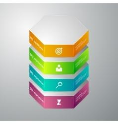 Infographics 3d hexagons vector
