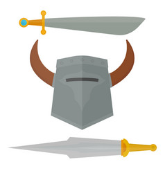 Knights sword medieval weapons heraldic knighthood vector