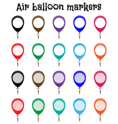 marker mockup air balloon marks vector image vector image