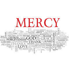 Mercy word cloud concept vector