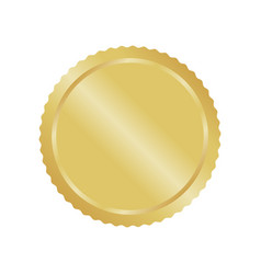 modern gold circle metal badge label and design vector image vector image