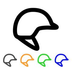 motorbike hardhat stroke icon vector image