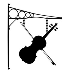 Music store sign vector