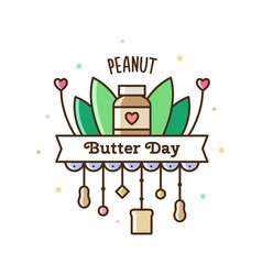 Peanut butter day vector