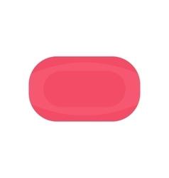 Pink soap flat vector
