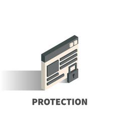 protection icon symbol vector image vector image