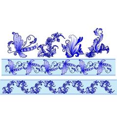russian decorative ornaments vector image