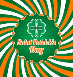 Saint Patricks Day badge vector image vector image