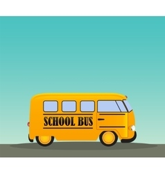 School Bus in Road Back to School Concept vector image vector image