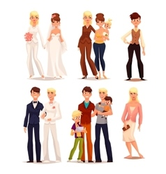 Set of people with different sexual orientations vector