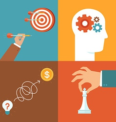 set of strategy and problem solving icons vector image vector image