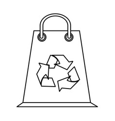 Shopping bag eco freindly related icon image vector