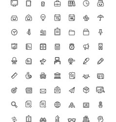 Simple business and office icon set vector image