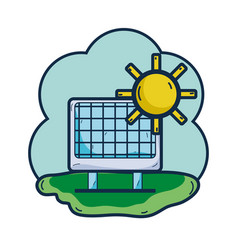 Solar energy with sunny weather vector
