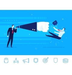 Teamwork businessman vector