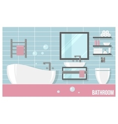 Bathroom modern interior vector