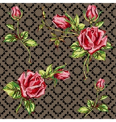 Rose pattern on motley vector