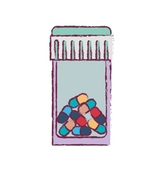 Blur bottle with tap and colorful pills vector