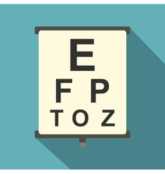 Eyesight check icon flat style vector