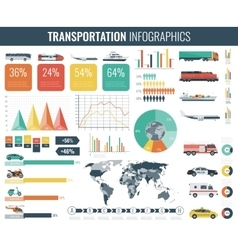 Transportation infographics set individual and vector