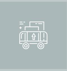 Line cargo cart logo vector
