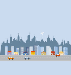 Downtown big city skyline vector