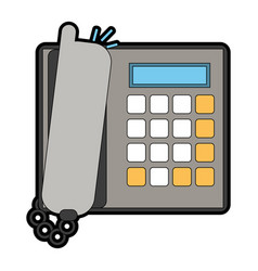 Landline phone icon image vector
