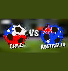 banner football match chile vs australia vector image