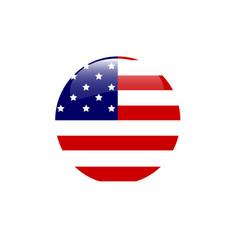 usa flag of american bubble vector image