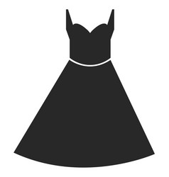 dress icon on white background dress sign vector image