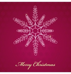 Christmas background snowflakes vector image