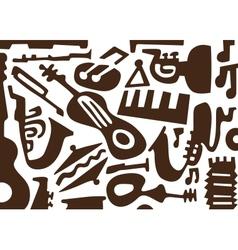 Jazz music instruments -doodles vector