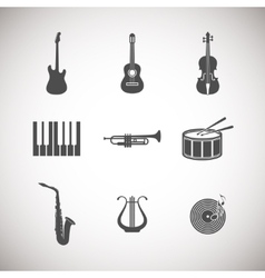 Set of musical instrument icons vector