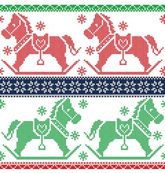Merry christmas scandinavian nordic pattern vector