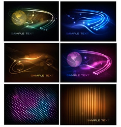 big set of abstract technology backgrounds vector image
