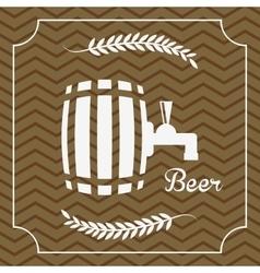 Refreshing beer design vector